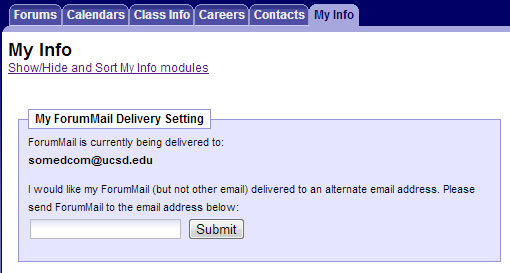 ForumMail Delivery Setting